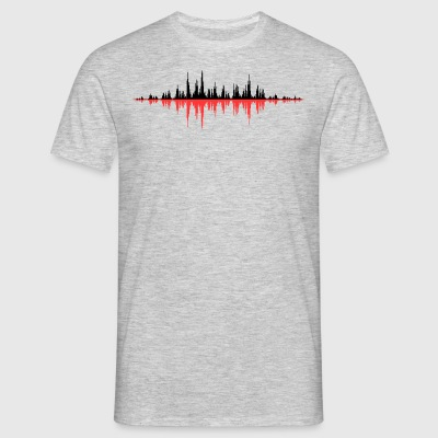 Rouge Onde sonore - T-shirt Homme