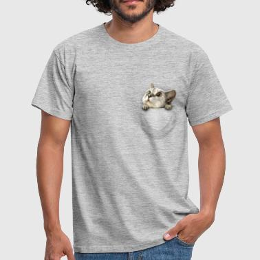 Pocket cat - Mannen T-shirt