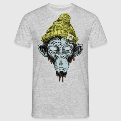 Monkey with hat - Men's T-Shirt