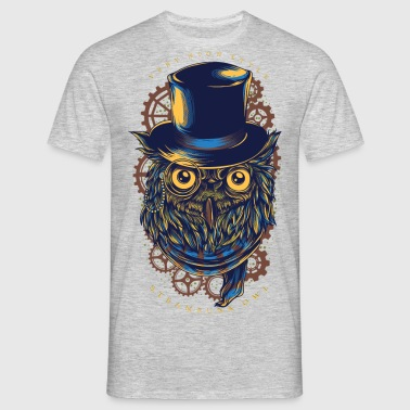 Owl - Steampunk Owl - Men's T-Shirt