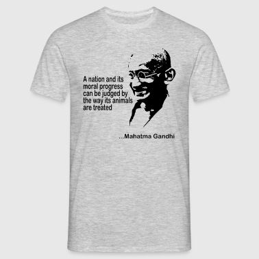 Gandhi Animal Rights - Mannen T-shirt