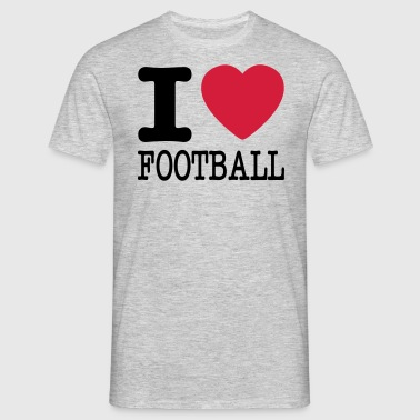 i love football / I heart football  2c - Men's T-Shirt