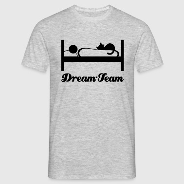Sleeping with Cat - Men's T-Shirt