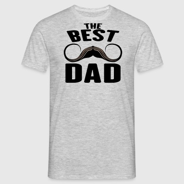 the best dad famille fete papa pere humo - T-shirt Homme