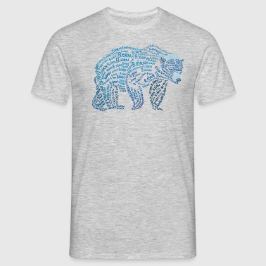 ours brun - T-shirt Homme