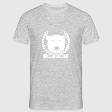 Polar Bear I Believe in Science Climate Change - Men's T-Shirt