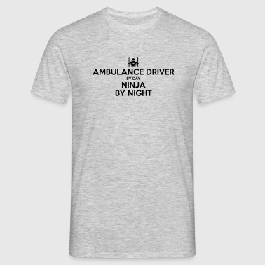 ambulance driver day ninja by night - Men's T-Shirt