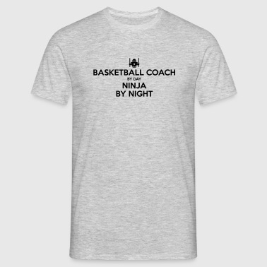 basketball coach day ninja by night - Men's T-Shirt