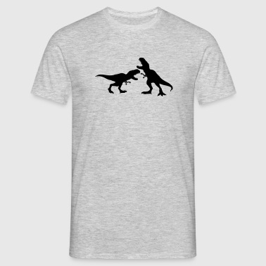 2 enemies fight fight race run silhouette black ou - Men's T-Shirt
