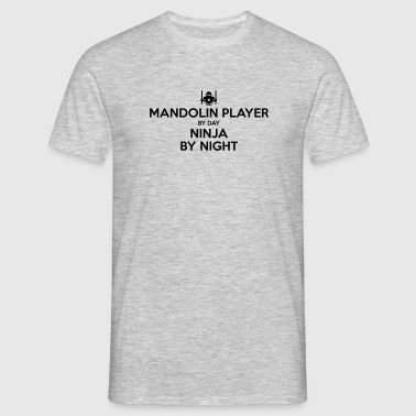 mandolin player day ninja by night - Men's T-Shirt