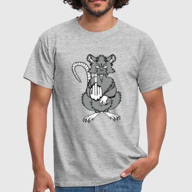 rat stinky fingers funny cool - Men's T-Shirt