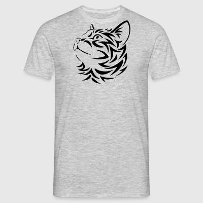 Chat Tribal - T-shirt Homme