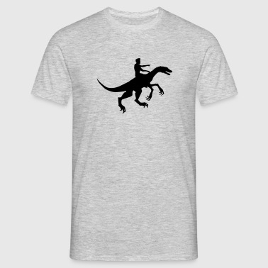 équitation attaque cheval raptor raptor chasse sil - T-shirt Homme