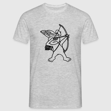 Aiming archer longbow medieval shooting arrows rob - Men's T-Shirt