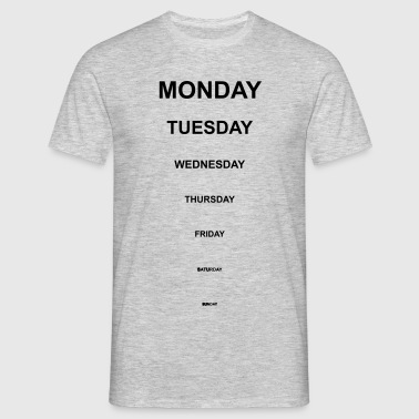 Short weekdays - Men's T-Shirt