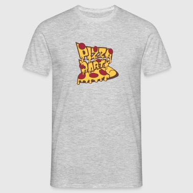 slice salami cheese dripping salami pizza deliciou - Men's T-Shirt
