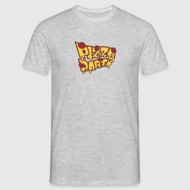 party celebrate salami cheese dripping salami pizz - Men's T-Shirt