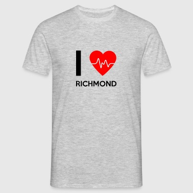 Ik houd van Richmond - I love Richmond - Mannen T-shirt