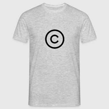 copyright logo - Men's T-Shirt