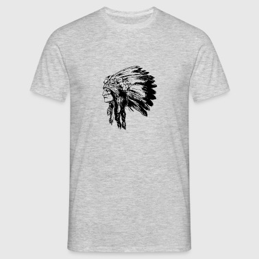 rostro indio American Illustration - Camiseta hombre