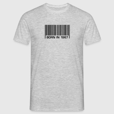 born in 1967 50th birthday 50th birthday barcode - Men's T-Shirt