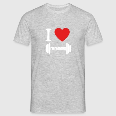 I LOVE Masse WHITE - Männer T-Shirt