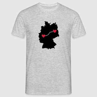Long-distance relationship - Cologne / Berlin - Men's T-Shirt