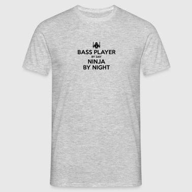 bass player day ninja by night - Men's T-Shirt