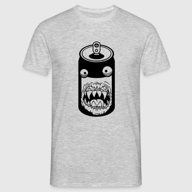 horror halloween evil monster face scary sideways  - Men's T-Shirt