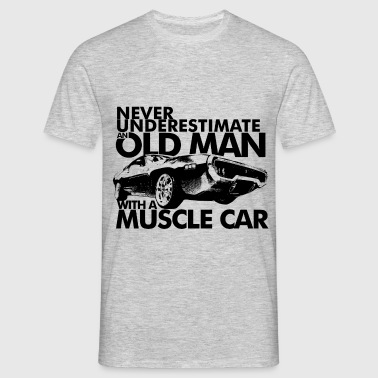 OLD MAN MUSCLE CAR B - T-shirt Homme