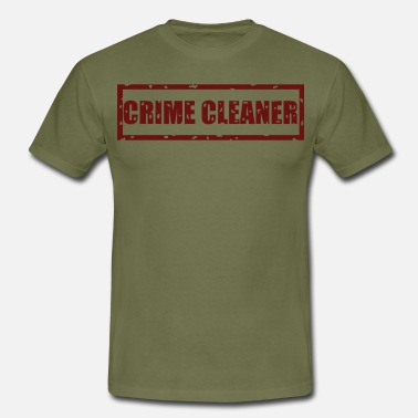 Scene Crime cleaner, crime scene cleaning saying police fun - Men's T-Shirt