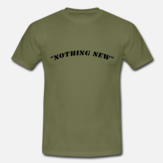 New Rave T-shirts - Nothing new - T-shirt Homme vert kaki