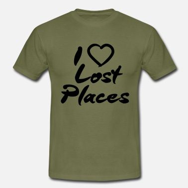 Lost Place I love lost places - Männer T-Shirt