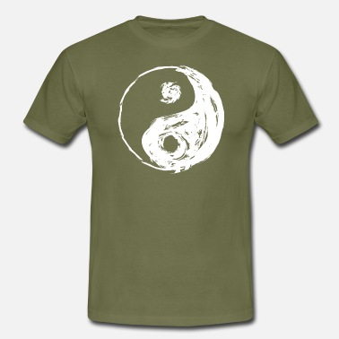 Cool YIN YANG og flosset cool look - T-shirt mænd