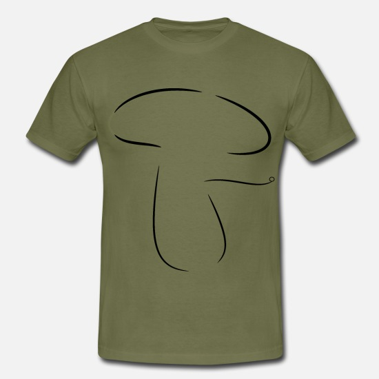 Fungal T-Shirts - Mushroom 7 - Men's T-Shirt khaki green
