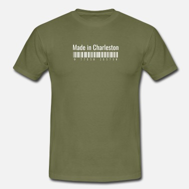 Country Of Birth Made in Charleston Home City Pride for Patriots - Men's T-Shirt