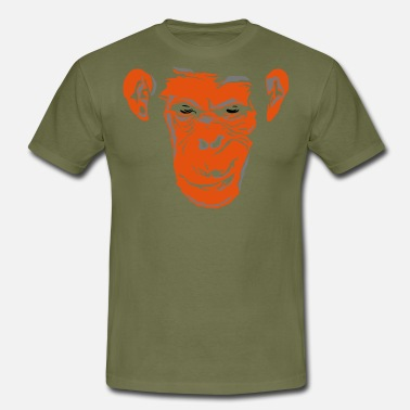 Does Monkey Lake's Monkey Does 09_orange - Maglietta da uomo