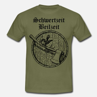 Edda Sword time, hatchet time - Men's T-Shirt