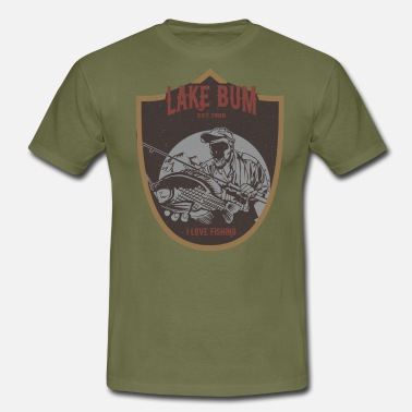 Bum Sports Lake Bum Angler Fishing Angling Fisherman - Men's T-Shirt