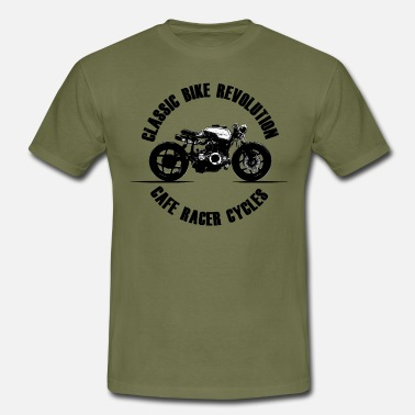 Motorcycle cafe racer - freedom - classic cycles - Men's T-Shirt