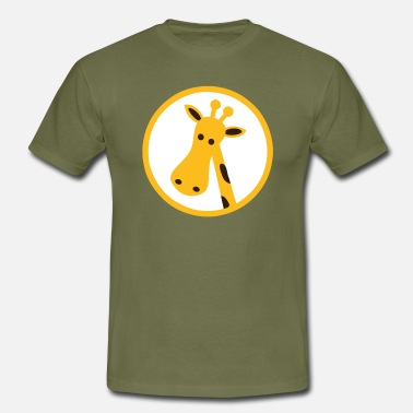 Icon Giraffe Head Cartoon Icon - Men's T-Shirt