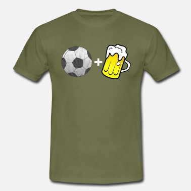 Beer And Football Football and beer - Men's T-Shirt