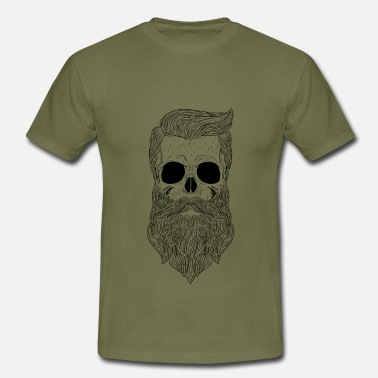 Bearded Skull Like A Boss - Dark - Men's T-Shirt