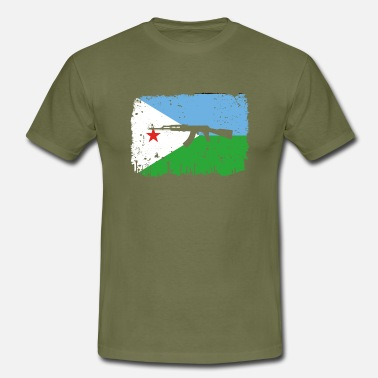 Ak homeland fight ak 47 home roots Djibouti png - Men's T-Shirt