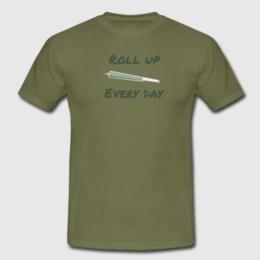 Roll Up Every Day - Miesten t-paita