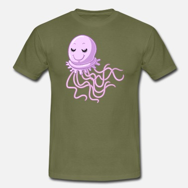 Dreamy pink jellyfish. - Men's T-Shirt