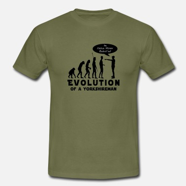 Yorkshireman Evolution of a Yorkshireman - Men's T-Shirt