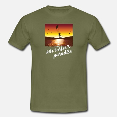 Kite KITE SURFER! KITE SURFERS PARADISE LOVE KITE - Männer T-Shirt