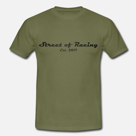 Motor T-Shirts - Street of Racing - collection three - Men's T-Shirt khaki green