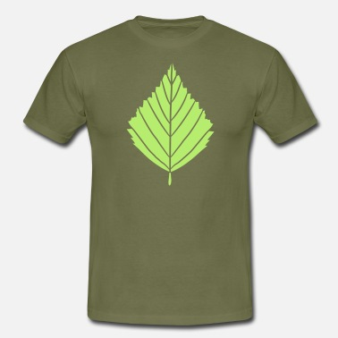 Builders outline birch leaf tree plant shape clip art desig - Men's T-Shirt